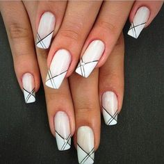 Wedding nails french posts 41 new Ideas nails french Wedding nails french posts 41 new Ideas French Nail Art, French Nail Designs, French Tip Nails, Nail Art Designs, Nails Design, White French Nails, French Manicures, Love Nails, Pretty Nails