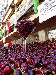 Cherry Paris Markets, Cherry, Strawberry, Fruit, Food, Essen, Strawberry Fruit, Prunus, Strawberries