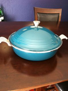 Homer Laughlin Vintage Fiesta Ware Dutch Oven Pot Braiser turquoise on Etsy, $26.00