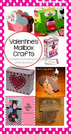 Resources for Valentine's Day mailbox crafts and more at Reading and Writing Redhead
