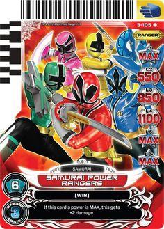 Samurai Power Rangers Trading Card