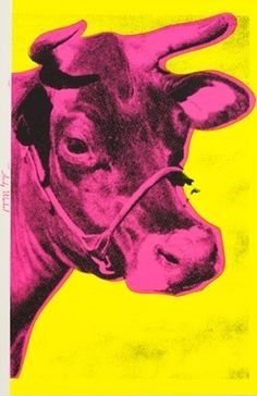 Andy Warhol, yellow cow on ArtStack #andy-warhol #art