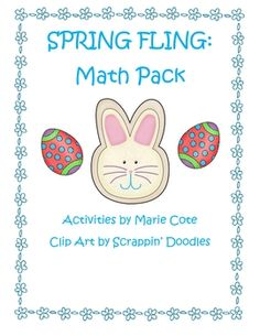 This 22 page math packet is Spring THemed. It contains practice pages and activities for adding, subracting, even/odd, doubles facts, and more!$3