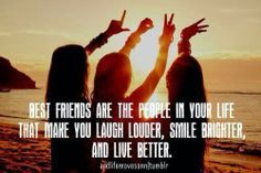 Best friends are the people in your life that make you laugh louder, smile brighter and live better.  Pink Pad - the app for women - pinkp.ad