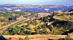 Hilton oteli balkonundan İstanbul 1961. Eskiden buralar hep tarlaydı...