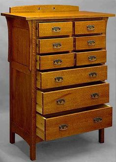 Arts & Crafts dresser, done in one of our fairest stains.