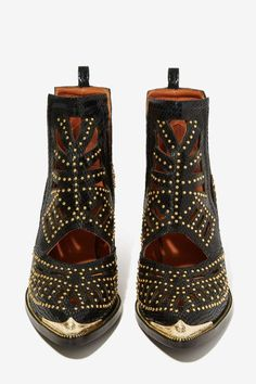 Jeffrey Campbell Maceo Cutout Leather Boot - Shoes | Jeffrey Campbell