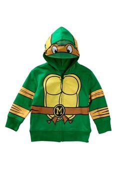 Teenage Mutant Ninja Turtles Michaelangelo Costume Hoodie (Toddler Boys) by FREEZE on @HauteLook