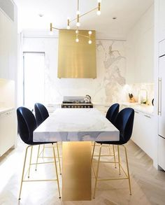 A New York kitchen remodel to die for with beetle chairs from @gubiofficial + Lacanche Range
