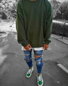 Top Streetwear: Streetwear, Hip hop & Urban Clothing Men's Denim Jeans from the hottest Streetwear b Tomboy Fashion, Streetwear Fashion, Fashion Outfits, Men Fashion, Fashion Ideas, Fashion Quiz, Streetwear Men, Latex Fashion, Urban Outfits