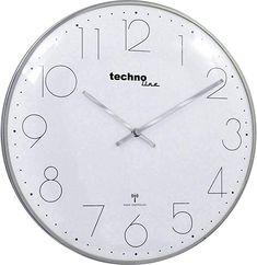Funk-Wanduhr Wt 8235 chrome Techno Line TechnolineTechnoline Techno, Chrome, Clock, Control, Dimensions, Home Decor, Vintage, Products, Analog Signal