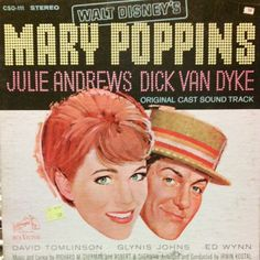 Mary Poppins #Disney #soundtrack #LP #cover