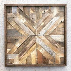 Art mural bois de récupération bois de grange par DallasFarmhouse