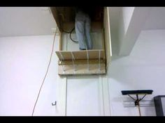 home made elevator to attic - YouTube