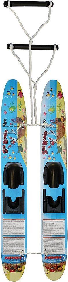 Waterskis 71175: Hydroslide Water Ski Sea Rover Kids Ski Trainers Dual Handle Padded 48 Inch Wood -> BUY IT NOW ONLY: $74.99 on eBay!