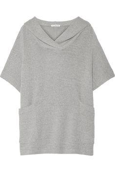 James Perse | Haut à capuche oversize en mailles de coton stretch | NET-A-PORTER.COM