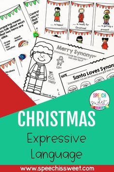 Get your students work on expressive language with this Christmas Expressive Language activity. This expressive language packet contains four games and 11 NO PREP pages. These activities are great for use in the speech room or a regular classroom. Your students will using these activities during the Christmas season! | Speech is Sweet Speech Language Therapy, Speech Therapy Activities, Language Activities, Speech And Language, Christmas Speech Therapy, Multiple Meaning Words, Receptive Language, Student Drawing, Speech Room