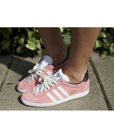 promo code 74403 433bb Adidas Gazelle Pale Pink Gold Shoes UK
