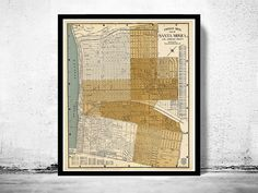 Old Map of Santa Monica LA California 1938 - product image