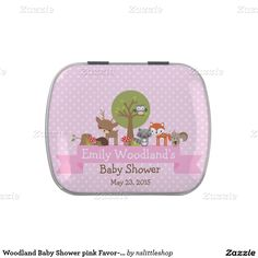 Woodland Baby Shower pink Favor-Mint Candy Tin