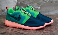 "#Nike Roshe Run Hyperfuse ""Catalina/Poison Green"" #sneakers"