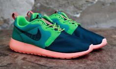 "#Nike Roshe Run Hyperfuse ""Catalina/Poison Green"" #sneakers"