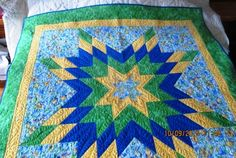 "Mystery Quilt ""My sunshine Radiant Star"" shared on MyQuiltPlace.com by Denise Lawrence"