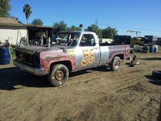 My Honey's Race Truck. Got first place @ Monster Jam The truck was my idea! Crazy Cars, Weird Cars, Monster Jam, Monster Trucks, Crash Bash, Demolition Derby, Derby Cars, Destruction, Antique Cars