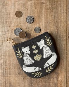 The Danica Studio Wild Tale Halfmoon Pouch is perfect for holding loose change, cards, keys, hair pins and more. Zipper Pouch, Handbag Accessories, Travel Style, Travel Bags, Cosmetic Bag, Hair Pins, Keys, Coin Purse, Change