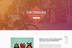 DW Timeline Ghost Theme by DesignWall on @creativemarket