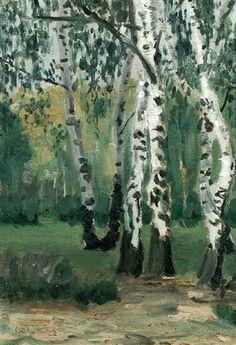 1904-1905 Birken am Heiderand by Walter Ophey