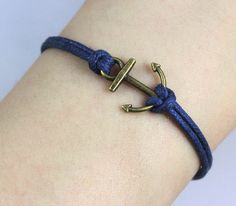 Anchor-antique bronze bracelet.