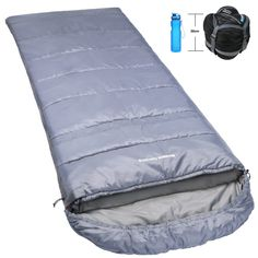 Norsens Hiking Camping Backpacking Sleeping Bag Lightweight/Ultralight Compact, 32°F/0°C Cold Weather sleeping bags for Adults. IDEAL FOR EXTREME WEATHERS - Designed for near-freezing temperatures, fits temperature range: 32 - 68°F/0-20 °C; Comfort in 10°C/50°F, thanks to our water-resistant/weather-proof polyester cover, spinning cotton filling and straight quilted design. PACK LIGHT & SMALL : Super small (20*20cm) and lightweight (3.0 lbs), when packed into included compression sack we...