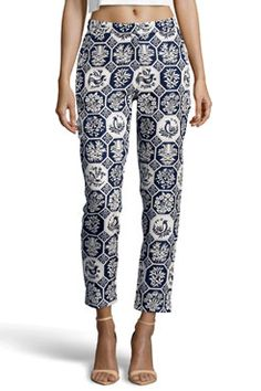 Boutique Lacey Bird Brocaide Trousers
