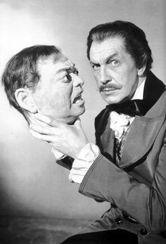 Vincent Price, the master of Horror movies, as they used to be! STILL my favorite movie of all time, house of wax!