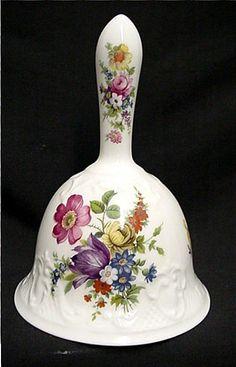 Large Dinner Bell White Porcelain
