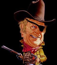Rooster Cogburn, played by John Wayne, True Grit.