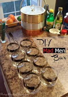 DIY Mad Men Bar - Everything you need for a great 60s cocktail party! #madmenparty