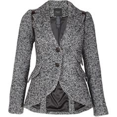 Smythe Equestrian Blazer in Charcoal Herringbone ($605) ❤ liked on Polyvore