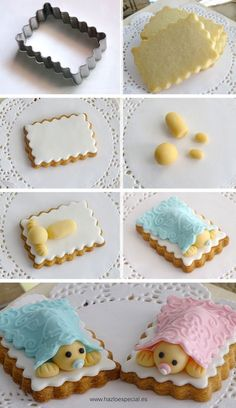 If you would like to be an expert at cake decorating, then you'll require practice and training. As soon as you've mastered cake decorating, you might become famous from the cake manufacturing business. Gateau Baby Shower, Baby Shower Cupcakes, Shower Cakes, Fondant Cookies, Cookie Icing, Cupcake Cookies, Cake Decorating Tips, Cookie Decorating, Fondant Baby