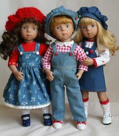 Джинсовое настроение для озорных Minouche / Куклы Sylvia Natterer, Minouche и другие. Kathe Kruse и Petitcollin / Бэйбики. Куклы фото. Одежда для кукол