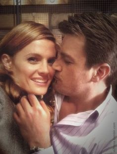"oneday1: "" allaboutcaskett: "" a2rana: "" Castle BTS - Work Husband & Wife "" Whaaaat where that comes from ???? Haven't seen it "" manip , I guess … but I like """