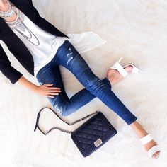 Erica Hoida casual chic outfit featuring the Heather top from #FevrieFashion