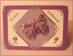 Rübe-Kreativ: Stickerkarte Schmetterling - Anleitung