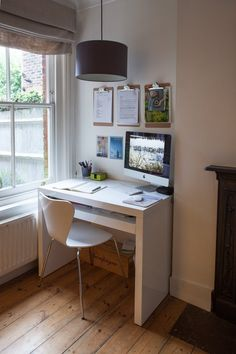 home office nook — Cathy & Tony's Calm, Creative English Home | Apartment Therapy