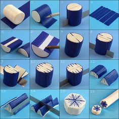 Polymer Clay, Snowflake Cane Tutorial by Eugena777, via Flickr