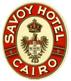 Savoy Hotel Cairo Luggage Label