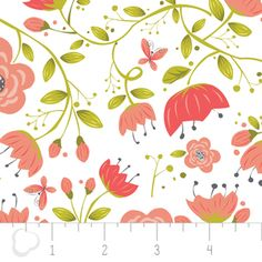 Heather Rosas - Its a Birds Life - Floral in White