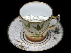 German Porcelain — Moustache Cup & Saucer 'Bamboo' (600×450)