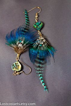 Hey, I found this really awesome Etsy listing at https://www.etsy.com/listing/198116745/abalone-heart-earrings-layered-feather